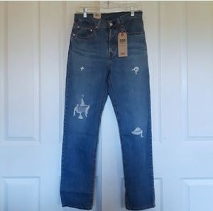 Nwt Womens 501 Levis High Rise Distressed Jeans